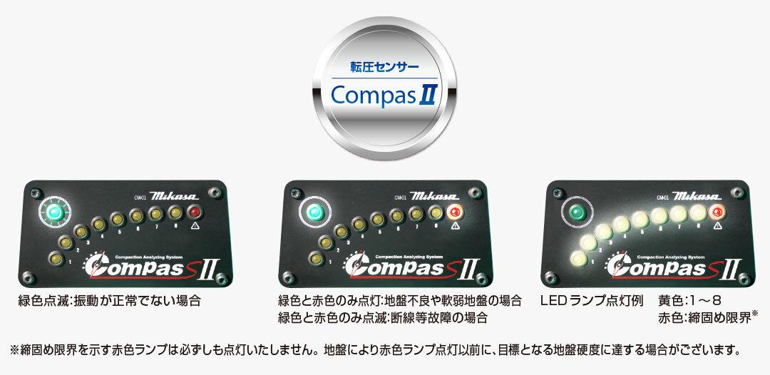 転圧センサーは、新制御方式の加速度センサーを内臓しています(MVH-308・408・508)