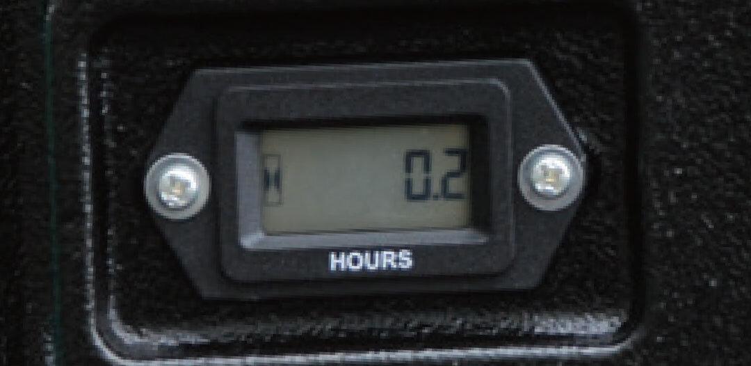 アワーメーターを標準装備
